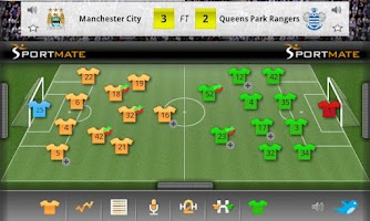 Screenshot of Football Scores Interactive