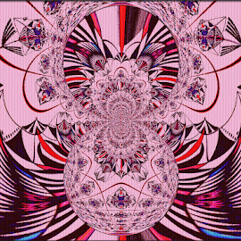Pink And Beautiful by Yvonne Collins - Digital Art Abstract ( edited, abstract, beautiful, digital art, pink, photography )