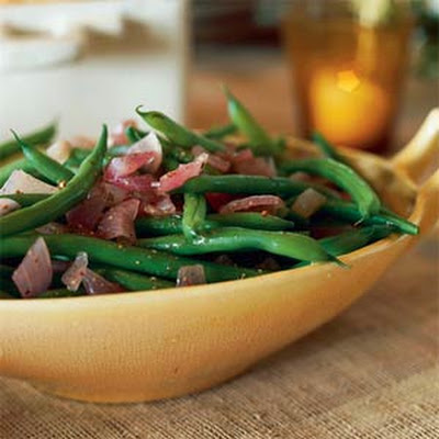 Green Beans with Roasted-Onion Vinaigrette
