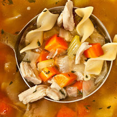 Easy Chicken Noodle Soup from a Leftover Roasted Chicken