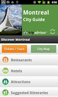 Screenshot of Montreal City Guide