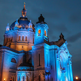 St Paul Cathedral Crashed by Brian Wiedeke - Buildings & Architecture Places of Worship ( minnesota, church, 2013, night, st paul,  )