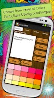 Screenshot of Color SMS Text Message Friends