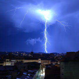 Lightning by Montse Tura Torra - Landscapes Cloud Formations ( lightning, night, storm )