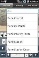 Screenshot of Pune Public Transport