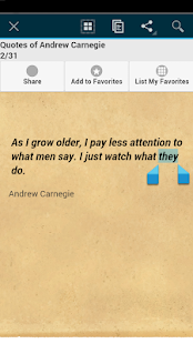 Quotes of Andrew Carnegie - screenshot