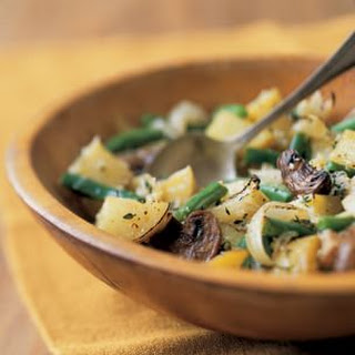 Roasted Mushrooms, Potatoes and Green Beans