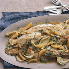 Roasted Farm-Raised Barramundi with Fennel and Orange