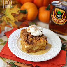 Overnight Baked Pumpkin Spice French Toast