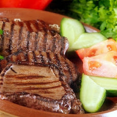 Grilled Calf's or Beef Liver Served With A Famous Romanian Sauce Mujdei