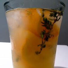 Meyer Lemon and Thyme Caipirinha