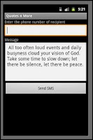Screenshot of Quotes and Wallpaper