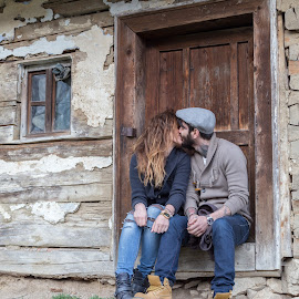 rural love by Adrian Bercea - People Couples ( old house, love, young couple, rural )