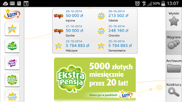 Screenshot of m.LOTTO