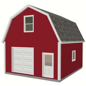Gambrel Barn and Shed Plans