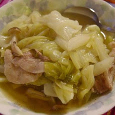 Hawaiian-Style Braised Pork with Stir-Fried Cabbage
