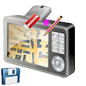 GPS Camera Map Draw icon