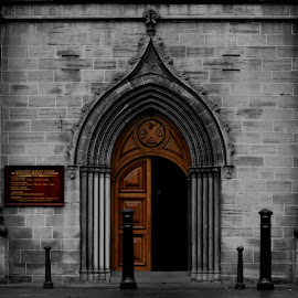 The door is always open.  by Katie Fleming - Buildings & Architecture Places of Worship ( church, arch, door, architecture, open door, chapel, arch way, religion, open, catholic, glasgow, opening, artist, town, religious )