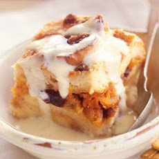 Brown Sugar Bread Pudding with Crème Anglaise
