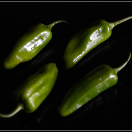 A composition by Prasanta Das - Food & Drink Fruits & Vegetables ( chilies, green, composition )