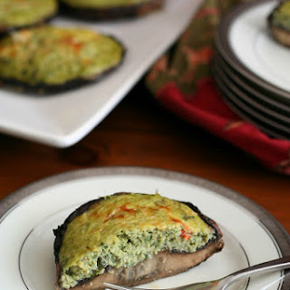 Spinach Artichoke Portabella Quiches – Low Carb and Gluten-Free