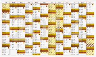 Screenshot of Year planner 2014 2015 free