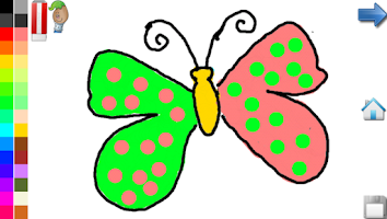 Screenshot of Coloring Book: Butterfly! FREE
