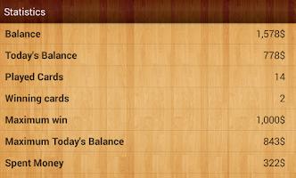 Screenshot of Lucky Scratch! Scratch Cards