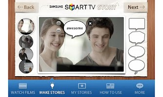 Screenshot of SAMSUNG SMART TV STORY