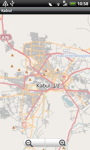 Kabul Street Map