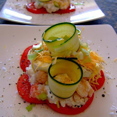 Salad Stack With Shrimps