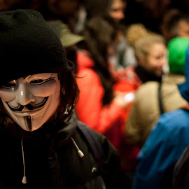 Anonymous Protester by Stano Buštor - News & Events Politics ( anonymous, journalism, politics, acta, mask, protests, guy fawkes, sopa, man )