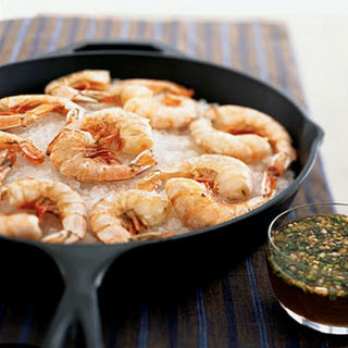 Salt-Roasted Shrimp with Lemon-Honey Dipping Sauce