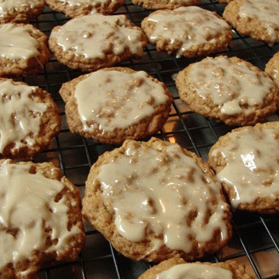 Maple Glazed Oatmeal Cookies