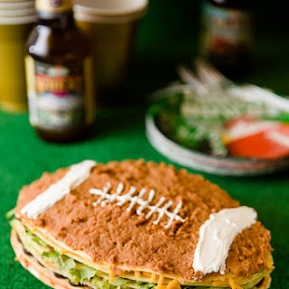Super Bowl Seven Layer Dip Crepe Cake