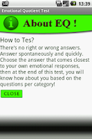 Screenshot of Emotional Quotient Test