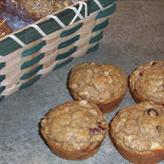 Rye Oat Muffins With Cranberries
