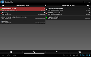 Screenshot of WotsNext - To-do / Task List