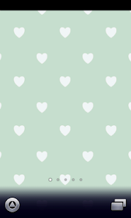 cute green hearts Wallpaper - screenshot