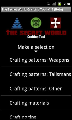 The Secret World Crafting Tool