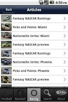 Screenshot of KFFL Fantasy Sports