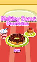 Screenshot of Decoration Game-Melting Donut