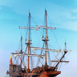 Galleon trade, from mexico,....Andalucia. by Rod Banzon - Transportation Boats