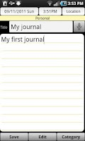 Screenshot of This Journal