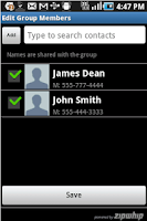 Screenshot of Group & Web Texting