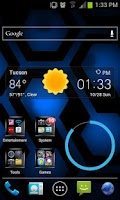 Screenshot of Jelly Bean Blue Hex Lite LWP