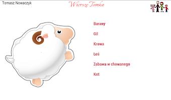 Screenshot of Wiersze Tomka