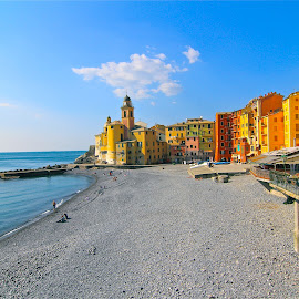 by Felice Bellini - City,  Street & Park  Historic Districts ( camogli, italy )