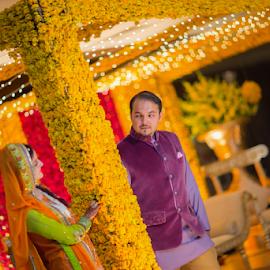 Shyness by Awais Javed - Wedding Bride & Groom ( canon, awais javed, weddings, awaisjaved, wedding, international )