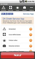 Screenshot of DA Direkt Service App
